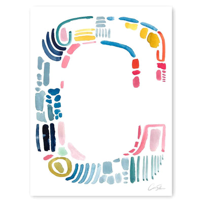 Color Letter C Print by artist Caitlin Shirock