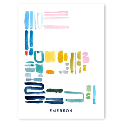Color Letter E Print by artist Caitlin Shirock