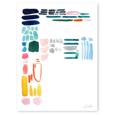Color Letter F Print by Artist Caitlin Shirock