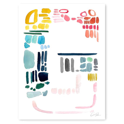 Color Letter G Print by Artist Caitlin Shirock