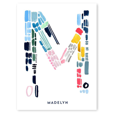 Color Letter M Print by artist Caitlin Shirock