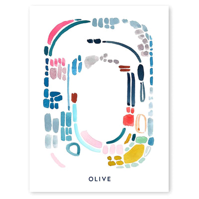 Color Letter O Print - Personalized