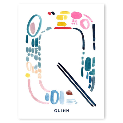 Color Letter Q Print - Personalized