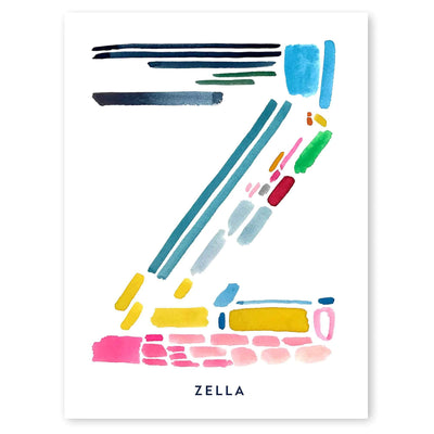 Color Letter Z Print - Personalized