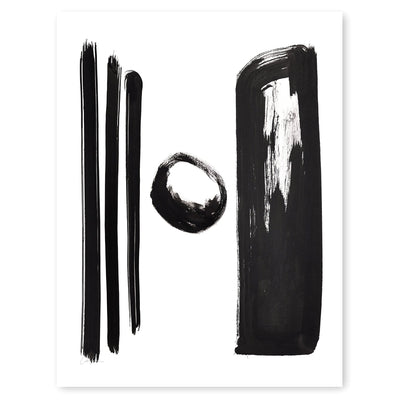 Black and White Letter H Print by Artist Caitlin Shirock Product Photo