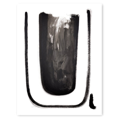 Black and White Letter U Print by Artist Caitlin Shirock Product Photo