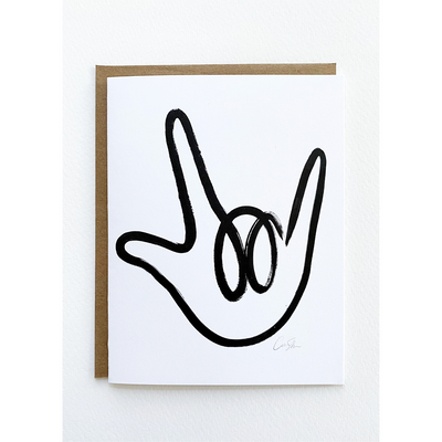 "ASL ""I Love You"" Sign Greeting Cards by Caitlin Shirock for Cash Color"