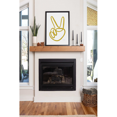 Holiday Peace Sign Print by artist Caitlin Shirock