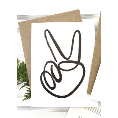 Peace Sign Greeting Cards by artist Caitlin Shirock
