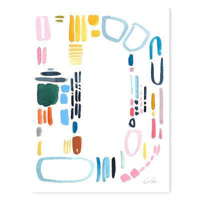 Color Letter D Print by Artist Caitlin Shirock