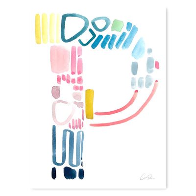 Color Letter P Print by Artist Caitlin Shirock