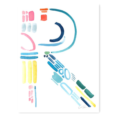 Color Letter R Print by artist Caitlin Shirock