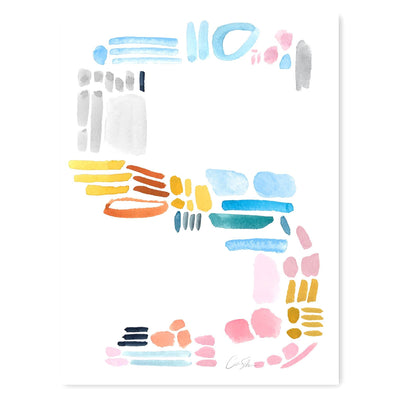 Color Letter S Print by artist Caitlin Shirock