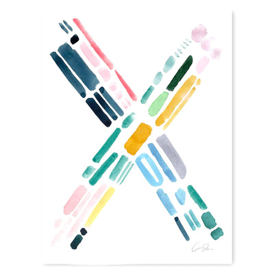 Color Letter X Print by Artist Caitlin Shirock