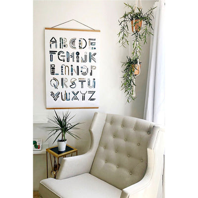 Neutral Letter Alphabet Print - Cash Color Lifestyle-3