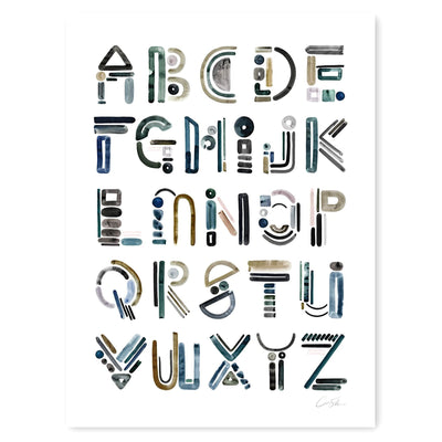 Neutral Letter ALPHABET Print by Artist Caitlin Shirock