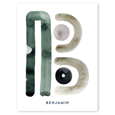 Neutral Letter B Print by artist Caitlin Shirock
