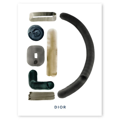 Neutral Letter D Print by artist Caitlin Shirock