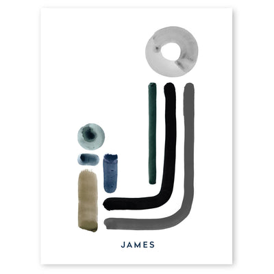 Neutral Letter J Print by artist Caitlin Shirock