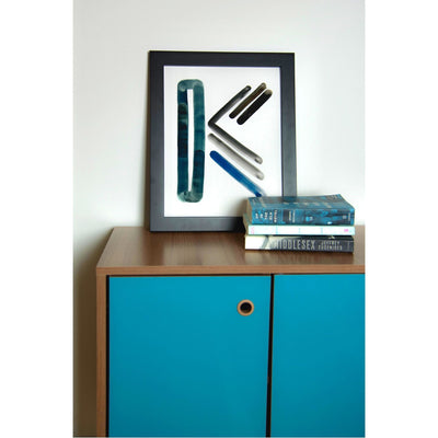Neutral Letter K Print by artist Caitlin Shirock