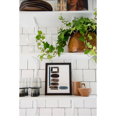 Neutral Letter L Print | Modern Wall Letter by Artist Caitlin Shirock