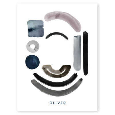 Neutral Letter O Print by artist Caitlin Shirock