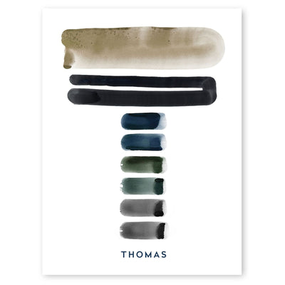 Neutral Letter T Print by artist Caitlin Shirock
