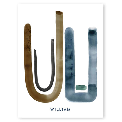 Neutral Letter W Print by artist Caitlin Shirock