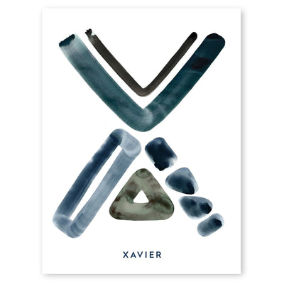 Neutral Letter X Print by artist Caitlin Shirock