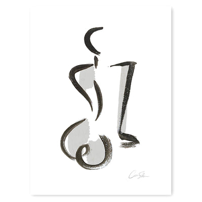 Silver Figure Print by artist Caitlin Shirock