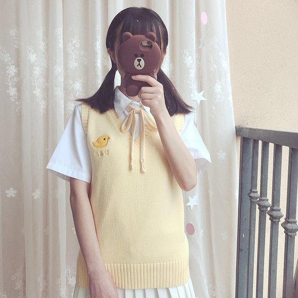 Little Chick Preppy Sweater Vest - Tokyo Dreams