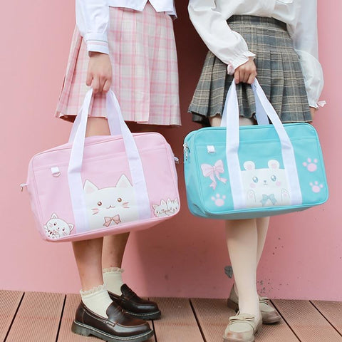 Kawaii Anime Messenger Bag (Pink, Brown, Blue) Messenger Bag Tokyo Dreams