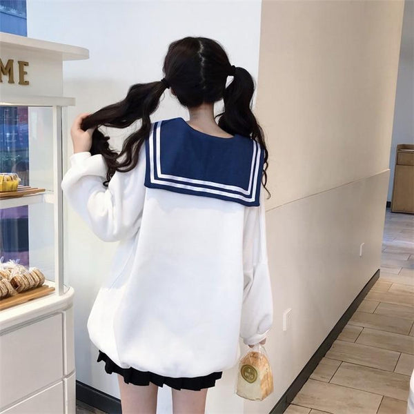 Anime Girl Long Sailor Sweater - Tokyo Dreams