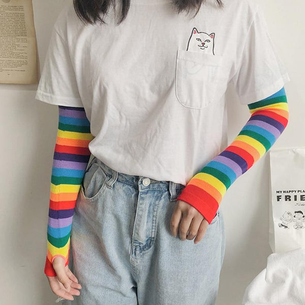 Rainbow Candy Arm Sleeves - Tokyo Dreams