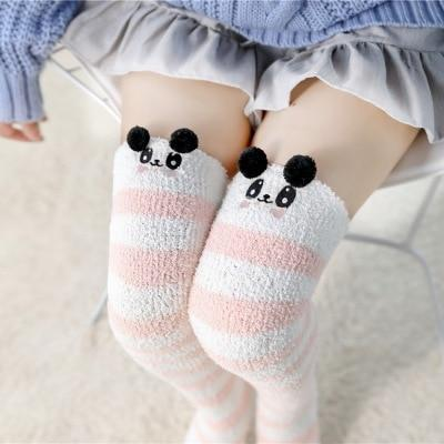 Mori Mouse Striped Stockings - Tokyo Dreams