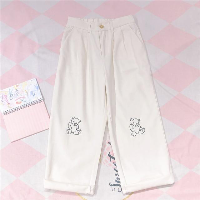 Kawaii Bear Cartoon Trousers - Tokyo Dreams