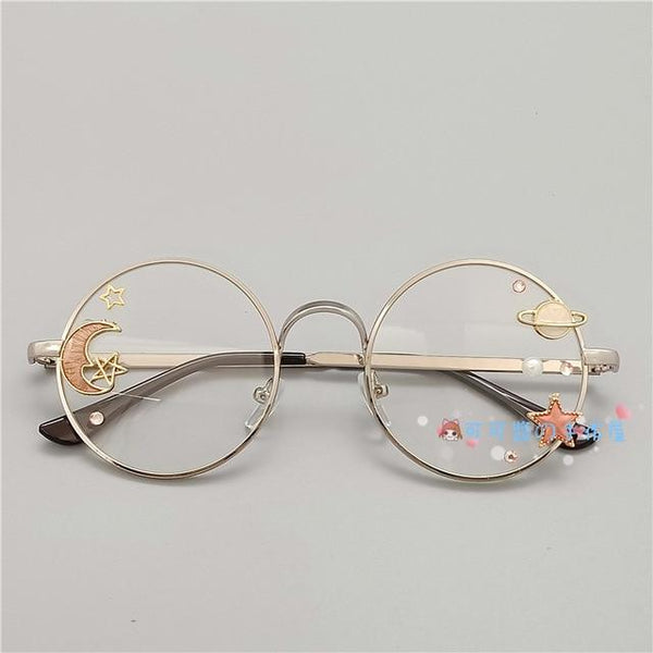 Kawaii Girl Japanese Style Glasses (20 styles) Glasses Tokyo Dreams Silver