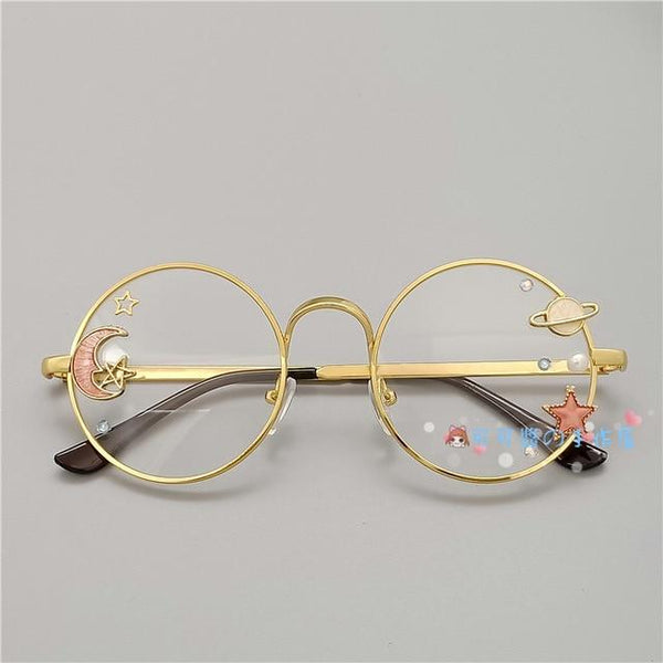 Kawaii Girl Japanese Style Glasses (20 styles) Glasses Tokyo Dreams Gold