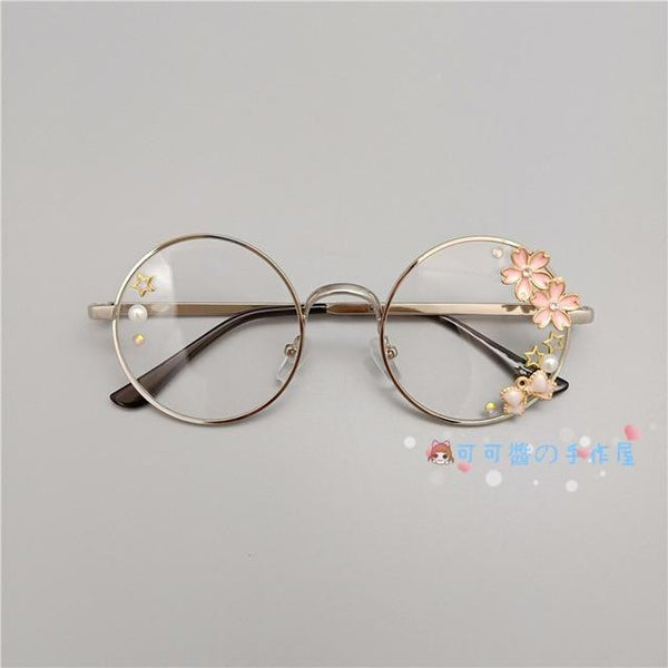 Kawaii Girl Japanese Style Glasses (20 styles) Glasses Tokyo Dreams Silver 2