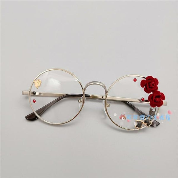 Kawaii Girl Japanese Style Glasses (20 styles) Glasses Tokyo Dreams Silver 3