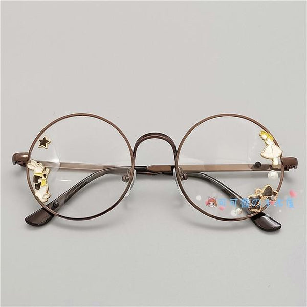 Kawaii Girl Japanese Style Glasses (20 styles) Glasses Tokyo Dreams Copper 2