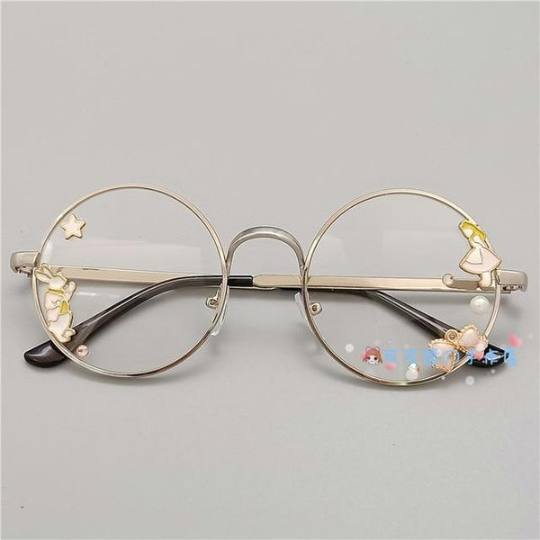 Kawaii Girl Japanese Style Glasses (20 styles) Glasses Tokyo Dreams Silver 4