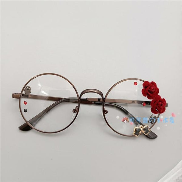 Kawaii Girl Japanese Style Glasses (20 styles) Glasses Tokyo Dreams Copper 4