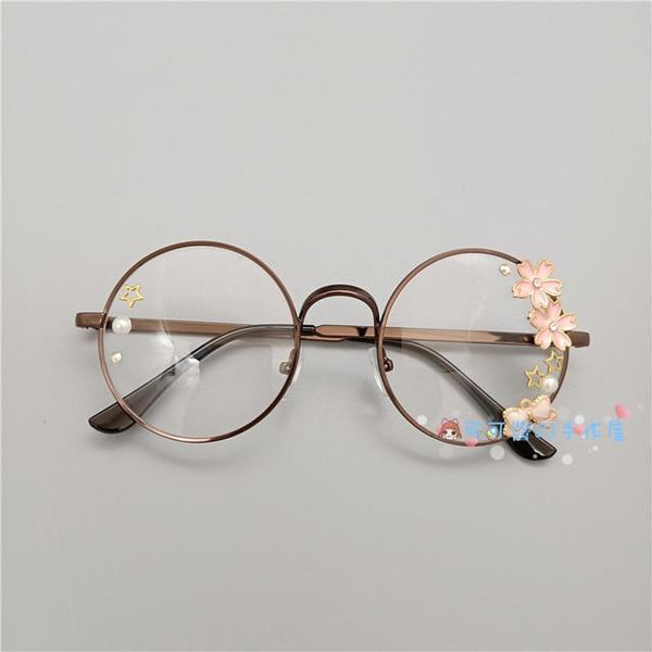 Kawaii Girl Japanese Style Glasses (20 styles) Glasses Tokyo Dreams Copper 5