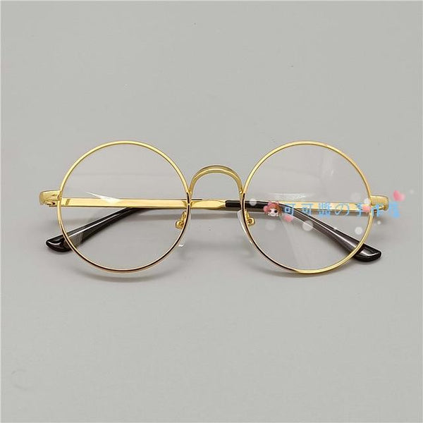 Kawaii Girl Japanese Style Glasses (20 styles) Glasses Tokyo Dreams Non-Decoration Gold