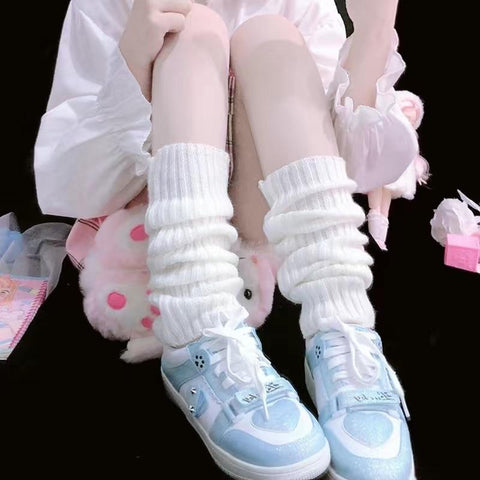 Kawaii Classic Slouch Socks (White, Black, Pink) - Tokyo Dreams