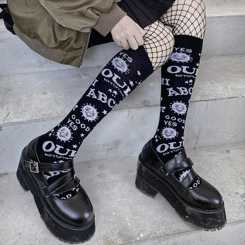 Ouiji Goth Punk Stockings Stockings Tokyo Dreams