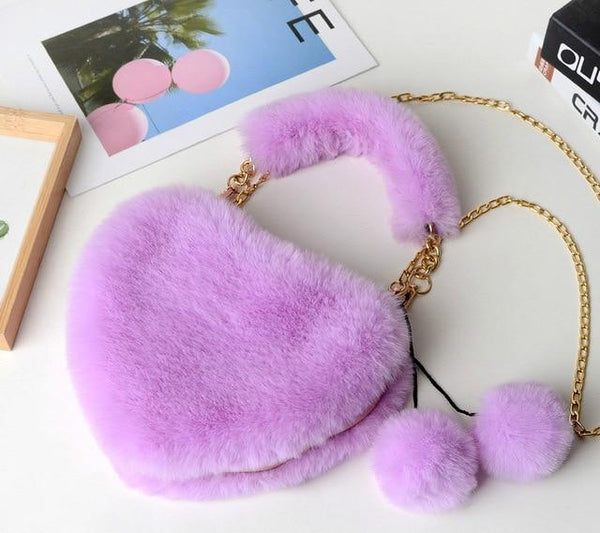 Kawaii Heart Crossbody Purse (10 colors) Purse Tokyo Dreams Purple