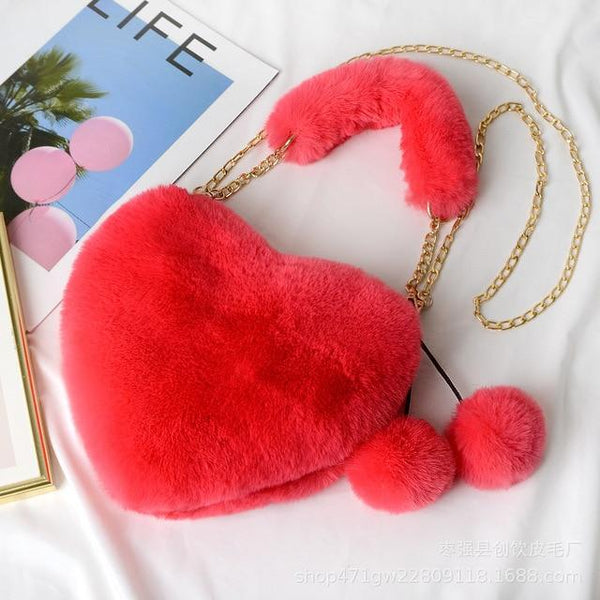 Kawaii Heart Crossbody Purse (10 colors) Purse Tokyo Dreams Watermelon Red