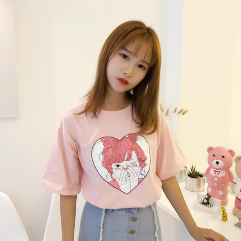 Kawaii Girl Cartoon Tee